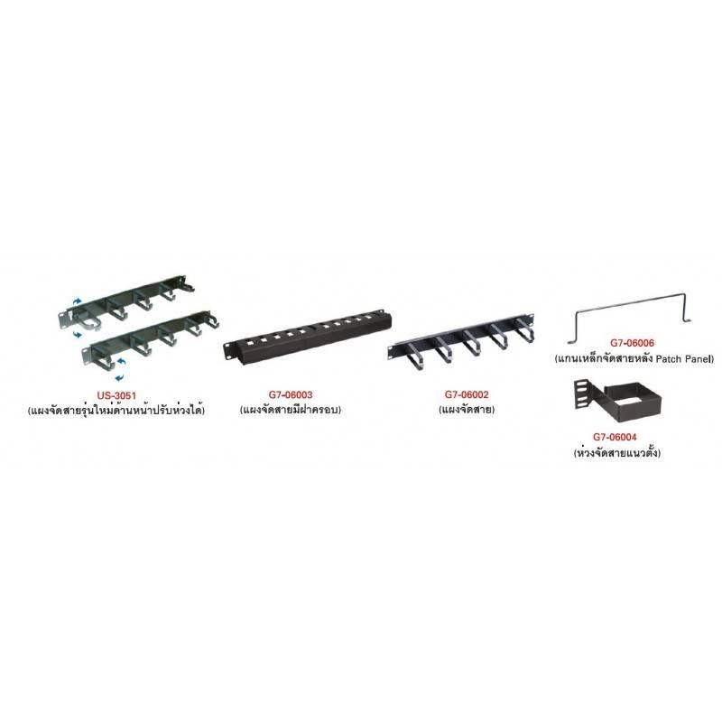 แผงจัดสายมีฝาครอบ G7-06003 CABLE MANAGEMENT PANEL WITH COVER อุปกรณ์ประกอบตู้ Rack