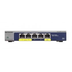 NETGEAR GS105PE ProSAFE Plus 5-Port Gigabit PoE Pass Through Switch 19W-802.3at/ 7.9W-802.3af Input Power