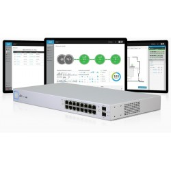 Ubiquiti Unifi Switch US-16-150W L2-Managed Gigabit Switch ขนาด 16 Port POE 802.3at 16 Port