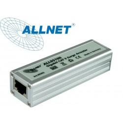 ป้องกันฟ้าผ่า Surge/Lightning Protector ALLNET ALL95100 TP Cat 6 PoE Surge arrester ปกป้องระบบเครือข่ายจาก ฟ้าผ่า, ESD และ ไฟ...