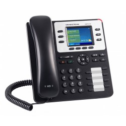 GrandStream GXP-2130 IP-Phone 3 คู่สาย, Bluetooth, 2 Port Lan, HD Audio, LCD Color, 4-Way Conference, PoE
