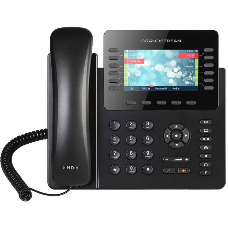 GrandStream GXP-2170 IP-Phone 6 คู่สาย, Bluetooth, 2 Port Lan, HD Audio, LCD Color, 5-Way Conference, PoE VOIP / IP-PBX ระบบโ...