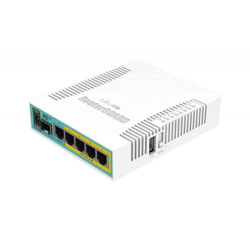 Mikrotik Router RB960PGS (hEX PoE) CPU 800MHz Ram 128MB Port Gigabit จ่ายไฟ POE 802.3at 4 Port Router Level4 (20 Users)