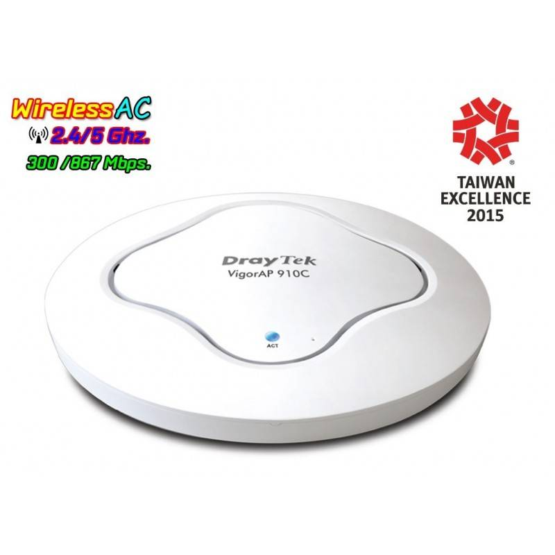 Vigor AP910C Wireless Access Point มาตรฐาน ac Dual Band, Build-In RADIUS Server ,Port Gigabit Wireless AccessPoint (กระจายสัญ...