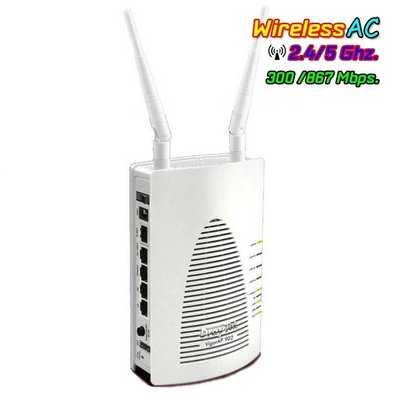 Vigor AP902 Wireless Access Point มาตรฐาน ac Dual Band, TR-069 ,Port Gigabit รองรับ POE Wireless AccessPoint (กระจายสัญญาณ WIFI)