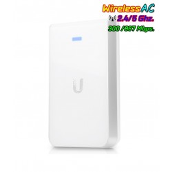 Ubiquiti UniFi UAP-AC-IW In-Wall Access Point แบบติดผนัง มาตรฐาน AC 867Mbps Dual-Band, 3 Port Lan Gigabit