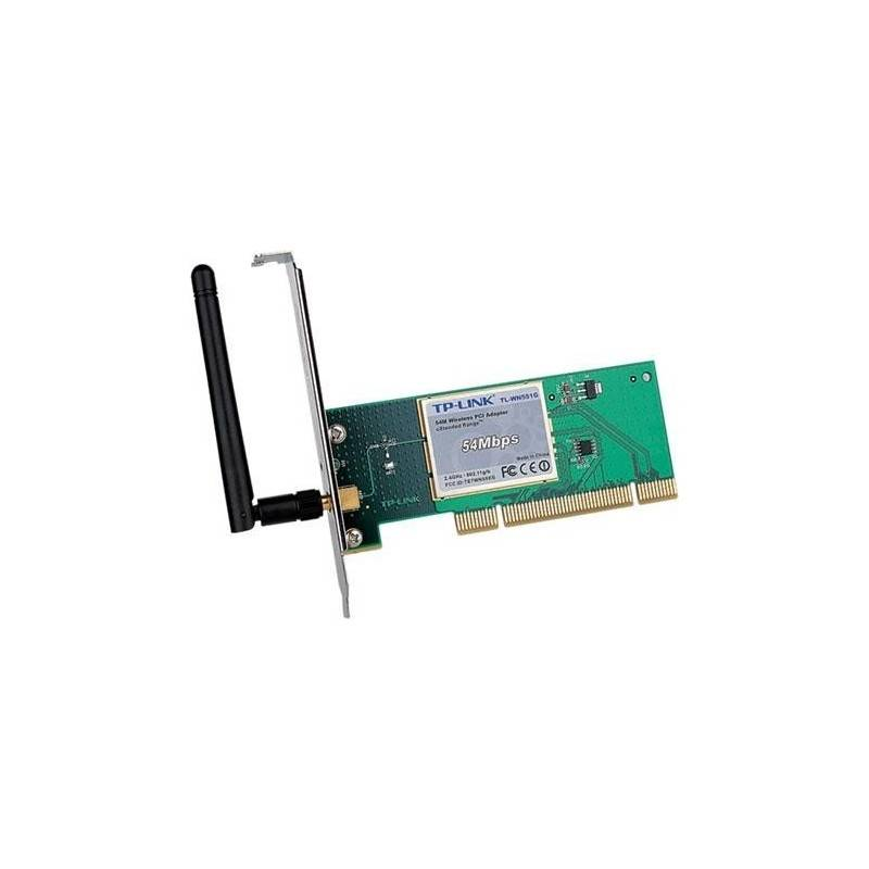 TP-Link Wireless PCI Adapter TP-Link TL-WN551G eXtended Range 54Mbps Wireless PCI Adapter
