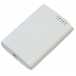 Mikrotik Router PowerBox RB750P-PBr2 CPU 650MHz Ram 64MB 5 Port 100Mbps ROS LV.4 Router Level4 (20 Users)