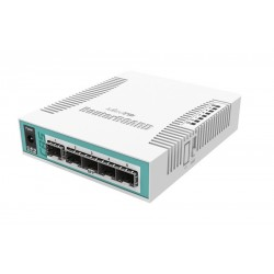 Mikrotik Cloud Router Switch CRS106-1C-5S, ROS Lv.5, 6 Port SFP, 1 Port Lan Gigabit Switches เชื่อมเครือข่ายแบบสาย