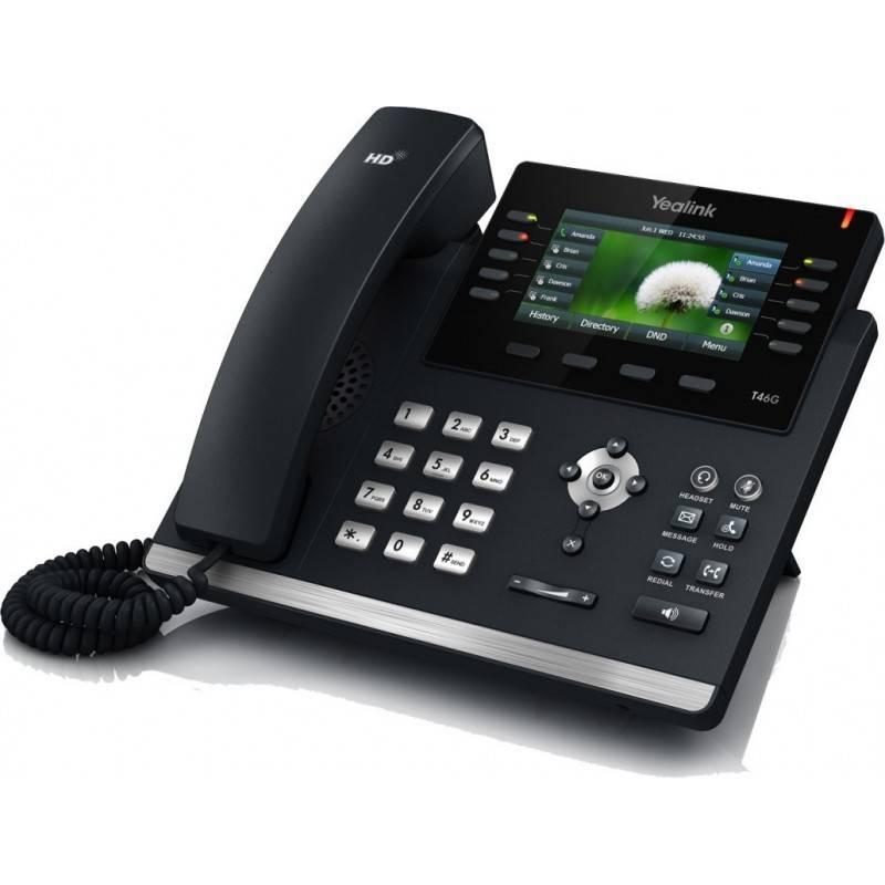 Yealink SIP-T46G โทรศัพท์แบบ IP (IP-Phone) จอ Color Display Backlight 16 SIP Account, HD Voice รองรับ POE IP-Phone เครื่องโทร...