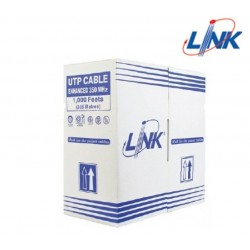 Link LAN Cable UTP/ STP/ FTP LINK US-9106 CAT6 UTP (250 MHz) w/Cross Filter, 23 AWG, CMR ความยาว 305 เมตร