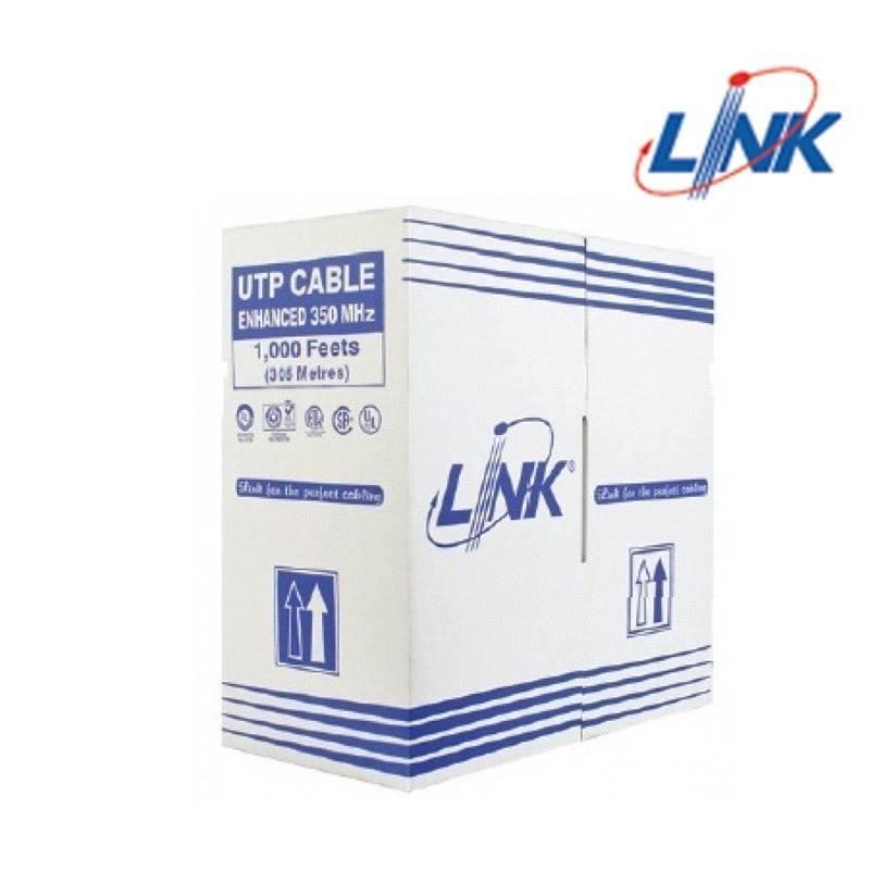 LINK US-9106 CAT6 UTP (250 MHz) w/Cross Filter, 23 AWG, CMR ความยาว 305 เมตร LAN Cable UTP/ STP/ FTP