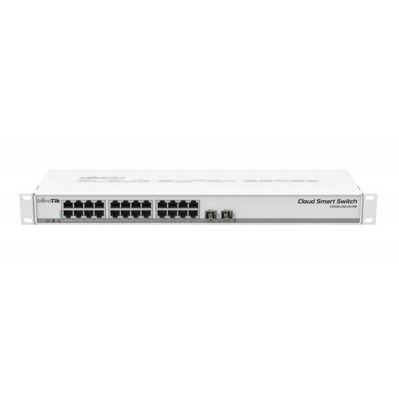 Mikrotik CSS326-24G-2S+RM Smart Switch 24 Port Gigabit 2 Port SFP Plus รองรับ VLANs, Port Mirror Switches เชื่อมเครือข่ายแบบสาย