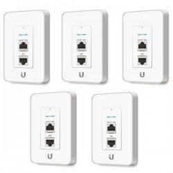 Ubiquiti UniFi UAP-IW-5 In-Wall Wifi Access Point แบบติดผนัง Pack 5 ชิ้น ราคาประหยัด ความถี่ 2.4GHz, Port Lan x 3