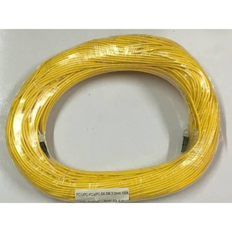Fiber-Optic Cable หัว FC/UPC-FC/UPC สำเร็จจากโรงงาน แบบ Indoor, Simplex, Single Mode 3.0MM. 100 เมตร Fiber Optic อุปกรณ์ระบบ ...