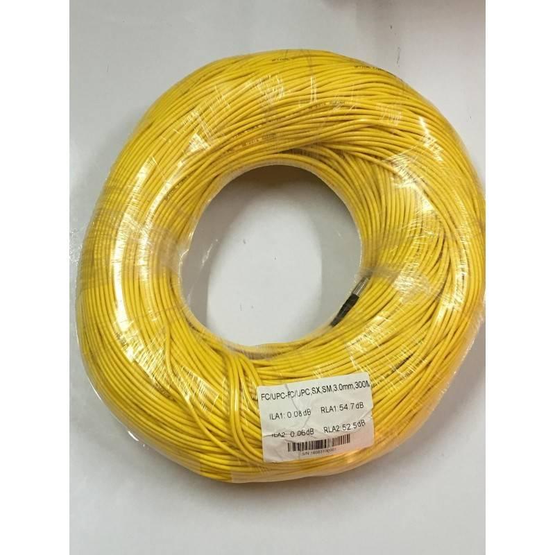 SysNet Center Fiber-Optic Cable หัว FC/UPC-FC/UPC สำเร็จจากโรงงาน แบบ Indoor, Simplex, Single Mode 3.0MM. 300 เมตร