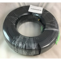 Fiber-Optic Cable FTTH Drop wire 2 Core หัว SC/APC สำเร็จจากโรงงาน แบบ Outdoor มีสลิง, Single Mode 150 เมตร