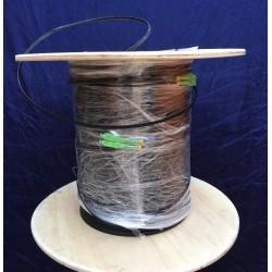 Fiber-Optic Cable FTTH Drop wire 2 Core หัว SC/APC สำเร็จจากโรงงาน แบบ Outdoor มีสลิง, Single Mode 300 เมตร