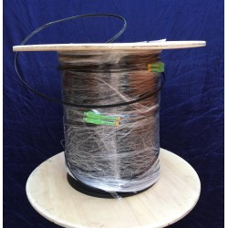 Fiber-Optic Cable FTTH Drop wire 2 Core หัว SC/APC สำเร็จจากโรงงาน แบบ Outdoor มีสลิง, Single Mode 400 เมตร