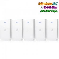 Ubiquiti UniFi UAP-AC-IW-5 In-Wall Access Point Pack 5 ชุด แบบติดผนัง มาตรฐาน AC 867Mbps Dual-Band, 3 Port Gigabit