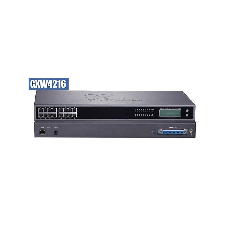 Grandstream GXW-4216 FXS Gateway ขนาด 16-Port FXS, 1 Port Lan, T.38 Fax Over IP, 132x48 backlit graphic VOIP / IP-PBX ระบบโทร...