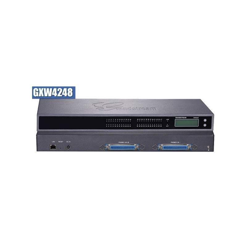 Grandstream GXW-4248 FXS Gateway ขนาด 48-Port FXS, 1 Port Lan, T.38 Fax Over IP, 132x48 backlit graphic VOIP / IP-PBX ระบบโทร...