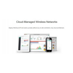 WisNetworks WisCloud Access Point WCAP Wireless AP แบบ Indoor 2.4GHz N 300Mbps พร้อม POE Wireless AccessPoint (กระจายสัญญาณ W...