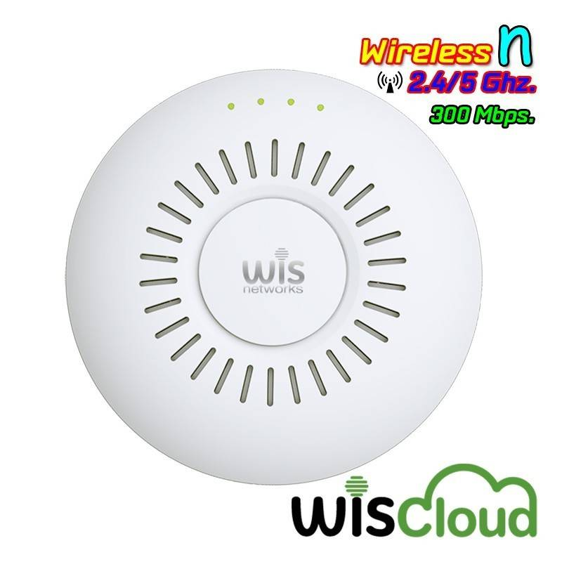 WisNetworks WisCloud Hi-Power Access Point WCAP-HP Wireless AP แบบ Indoor 2.4GHz N 300Mbps พร้อม POE Wireless AccessPoint (กร...
