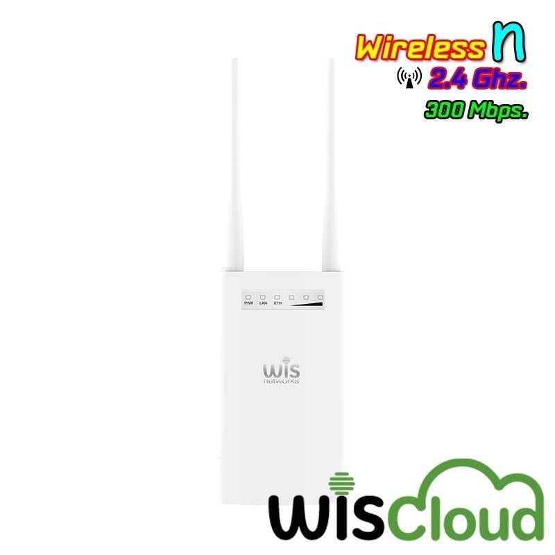 WisNetworks WisCloud Outdoor Access Point (WCAP-OUTDOOR) Wireless AP N 2.4GHz 300Mbps พร้อม POE Wireless AccessPoint (กระจายส...