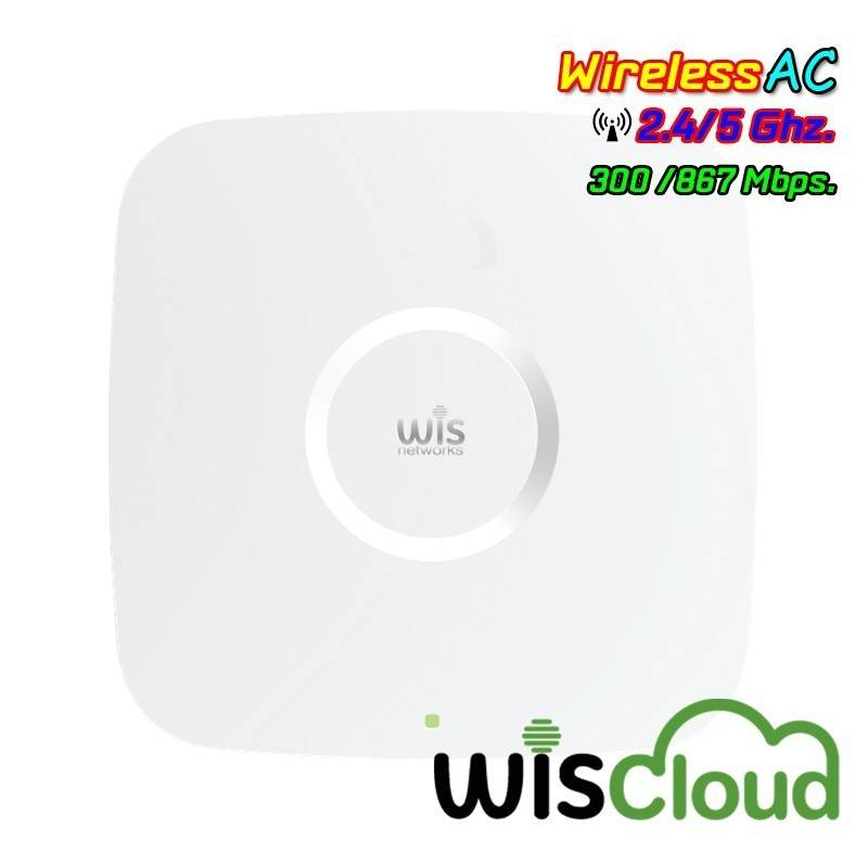 WisNetworks WisCloud 802.11ac Dual-Band Access Point (WCAP-AC) 867Mbps เสา 3dBi POE 802.3af Wireless AccessPoint (กระจายสัญญา...