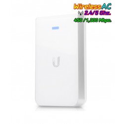 Ubiquiti UniFi UAP-AC-IW-PRO In-Wall Access Point แบบติดผนัง มาตรฐาน AC 1.3Gbps Dual-Band, 3 Port Lan Gigabit