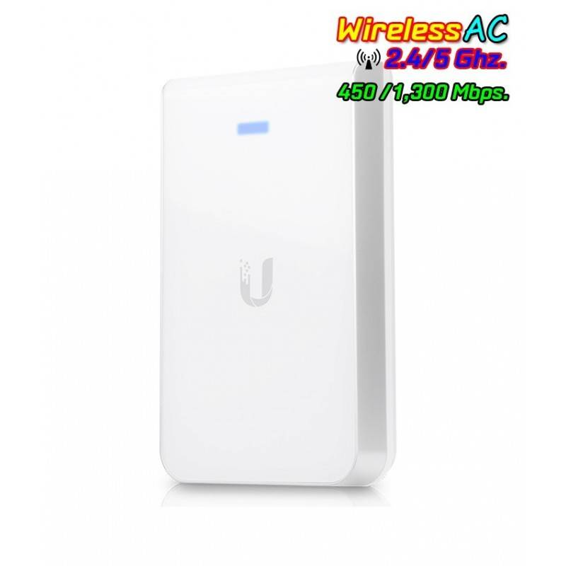 Ubiquiti UniFi UAP-AC-IW-PRO In-Wall Access Point แบบติดผนัง มาตรฐาน AC 1.3Gbps Dual-Band, 3 Port Lan Gigabit Wireless Access...