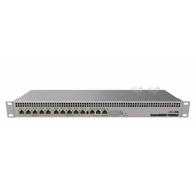 Mikrotik RB1100AHx4 CPU 4-Core 1.4GHz 13 Port Gigabit Ram 1GB, Storage 128MB RouterOS LV 6 Mikrotik (ไมโครติก)