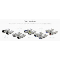 Ubiquiti Ubiquiti UFiber UF-MM-1G SFP Module Pack คู่ LC Multi-Mode Speed 1.25Gbps Wavelength 850nm ระยะ 550m