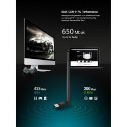 TOTOLINK A650UA AC650 Wireless Dual Band USB Adapter รับสัญญาณ Wireless AC 650Mbps TOTOLINK (โทโท้ลิ้ง)