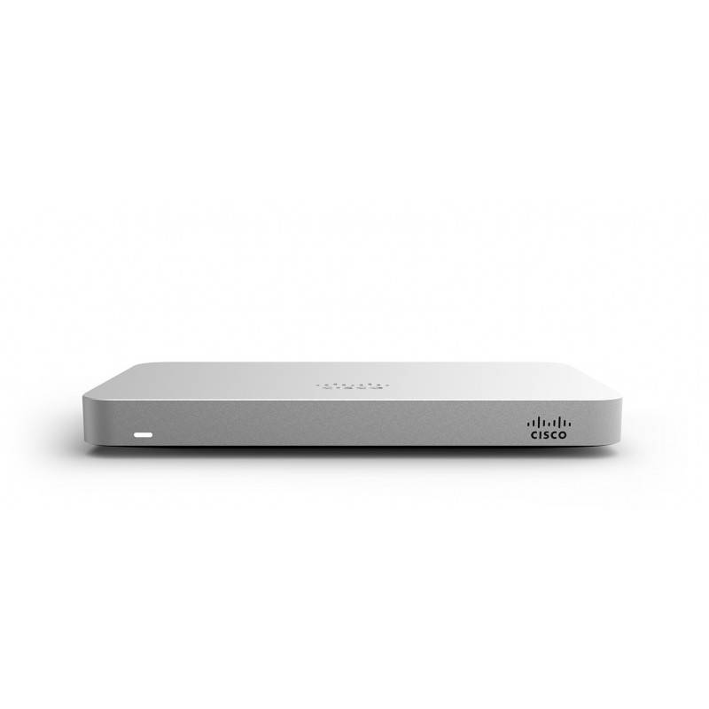 Cisco Meraki MX64 Cloud Managed Networking and Security, throughput 250 Mbps, Auto VPN, L7 Filter, รองรับ 50 Users Cloud Mana...