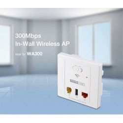 TOTOLINK WA300 300Mbps In-Wall Wireless AP 2.4Ghz 300Mbps, 1 RJ11, 1 Lan RJ45, USB 2.0 Charging Port Wireless AccessPoint (กร...