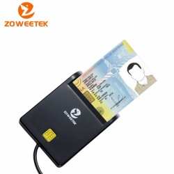 Smart Card Reader Zoweetek 12026-1 Card type ISO7816 Class A, B and C รองรับ Windows 10, Linux