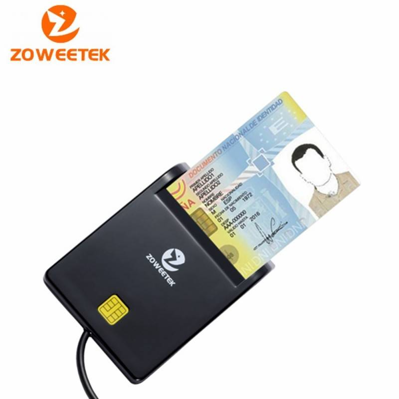 Smart Card Reader Zoweetek 12026-1 Card type ISO7816 Class A, B and C รองรับ Windows 10, Linux อุปกรณ์ Network Accessories