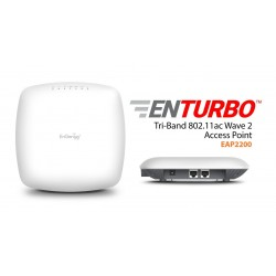 EnGenius EAP2200 EnTurbo Tri-Band 11ac Wave 2 Indoor Wireless Access Point Speed 2.2Gbps