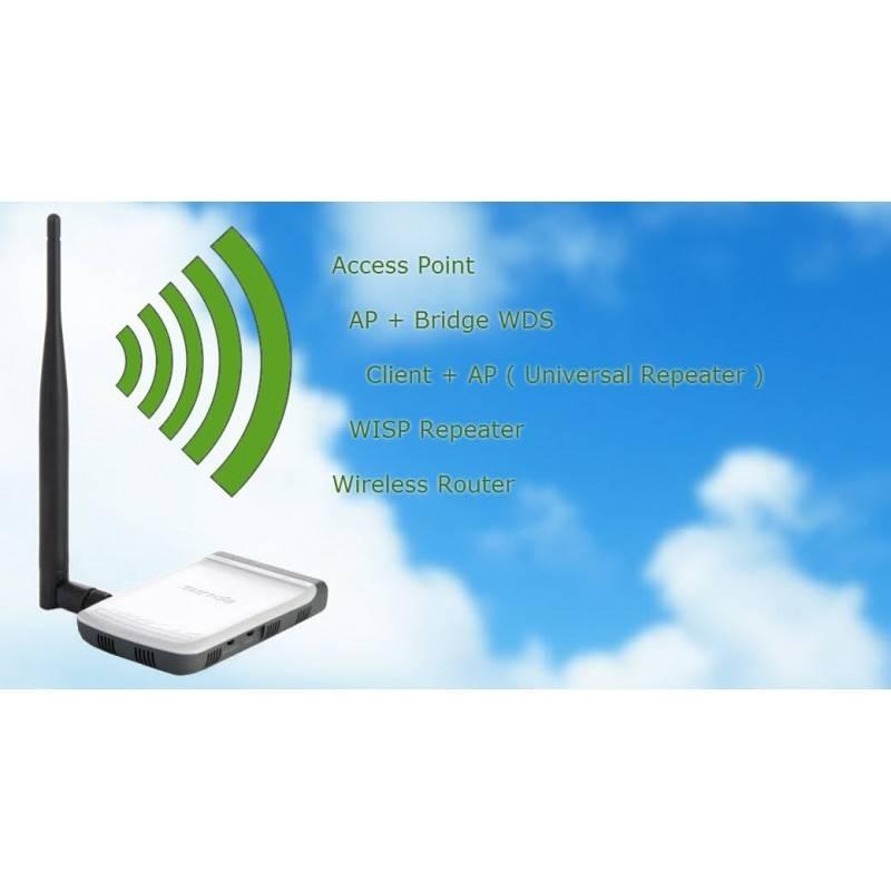 Tenda W150M+ Wireless AP/Client/WDS/Repeater 150Mbps ทำ Repeater หรือ เชื่อมต่อ Internet TV ไม่ต้องลากสาย Lan Wireless Access...