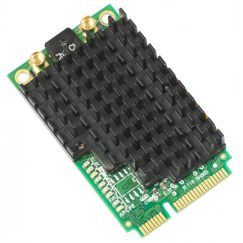 MikroTIK Mikrotik R11e-5HacD Wireless Card มาตรฐาน 802.11ac Tx 27dBm Slot แบบ miniPCI-express