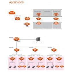 Tenda TENDA TEF1210P-8-150W L2 Manage PoE Switch 8 Port 100Mbps, 2 Port Gigabit จ่ายไฟ POE 802.3at 123W