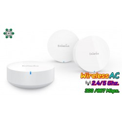 EnGenius Wireless Access Point EnGenius EMR3000-Kit EnMesh Whole-Home Wi-Fi System Pack-3 ชิ้น Wireless AC1200 Dual-Band MESH