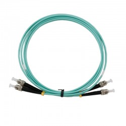 SysNet Center Fiber Optic อุปกรณ์ระบบ Fiber สาย Patch Cord Fiber Optic หัวต่อแบบ ST-ST Duplex 50/125um Multi-mode