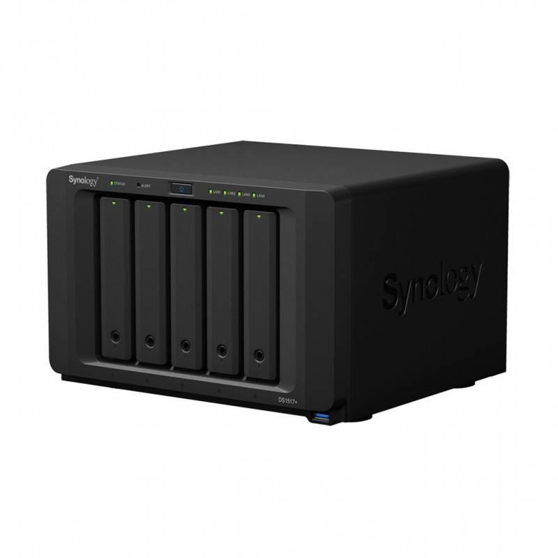 Synology DS1517+ NAS Server 5Bay สูงสุด 60TB Backup, Media Streaming, 4K Video, Load Bit อุปกรณ์จัดเก็บข้อมูล (NAS)