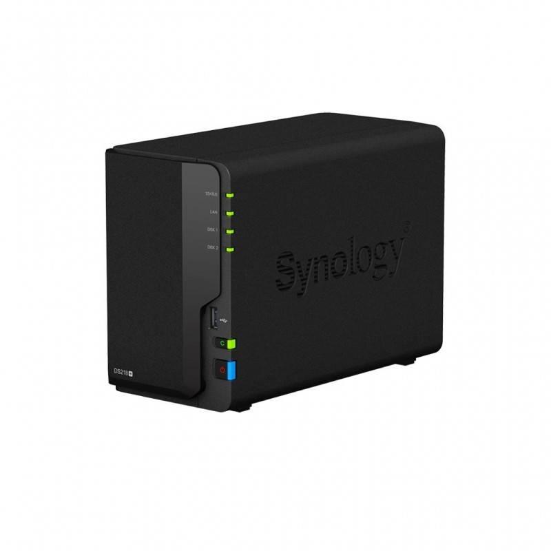 Synology DS218+ NAS server 2Bay สูงสุด 24TB Backup ข้อมูล, Media Streaming, 4K Video, Load Bit อุปกรณ์จัดเก็บข้อมูล (NAS)