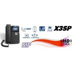 Fanvil X3SP IP-Phone 2 SIP Lines Account , HD Voice, จอ LCD Color 320x240 รองรับ PoE VOIP / IP-PBX ระบบโทรศัพท์แบบ IP