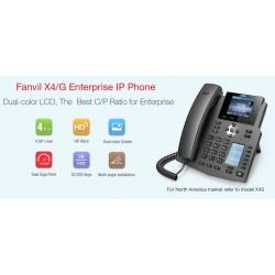 Fanvil X4 IP-Phone 4 SIP Lines Account , HD Voice, จอ LCD Color 320x240 Smart Phonebook รองรับ PoE VOIP / IP-PBX ระบบโทรศัพท์...