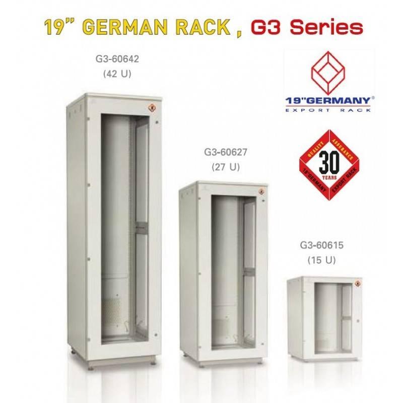 "19"" GERMAN RACK G3 Series G3-60615 Rack ขนาด 15U WxDxH 60 x 60 x 85 cm ตู้ Rack และ อุปกรณ์เสริม"